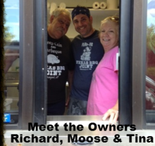 Richard Mogab, Tina Mogab and Richard Mogab Jr., Owners at Texas Bar-B-Q Joint