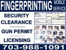 Contact us to schedule your fingerprinting service