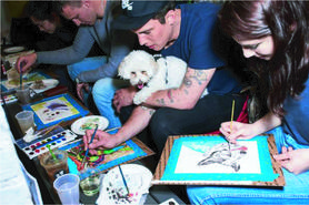 Paint and Sip Pet Portrait Fun NEW YORK TIMES