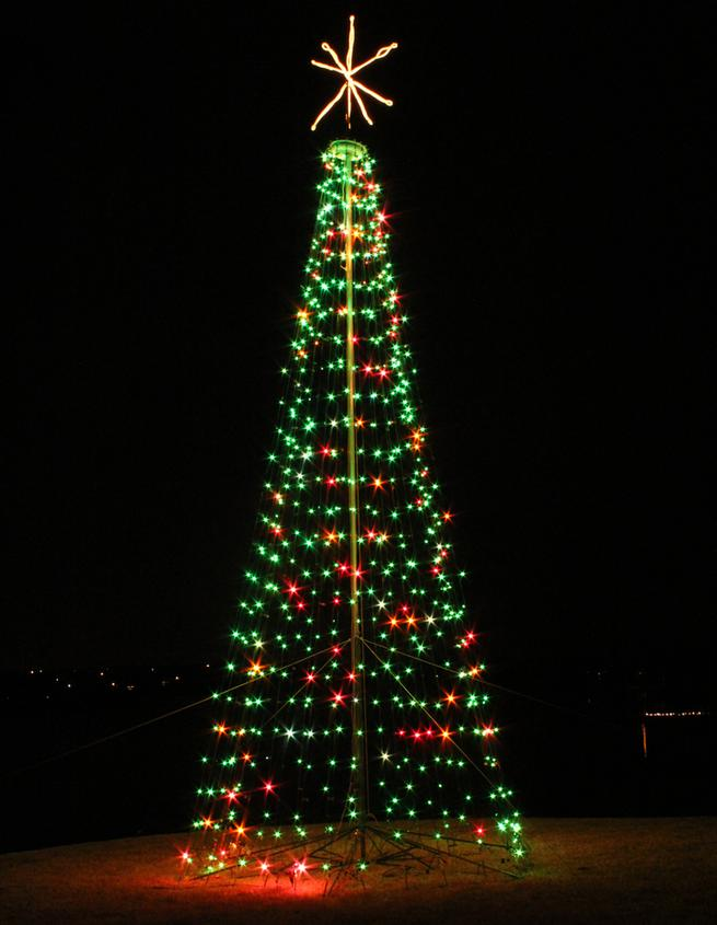 Cone Light Christmas Trees - indoor Outdoor Commercial Christmas ...