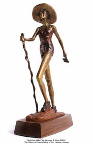 """Red Rock Hiker"" Adryanna B. Ciera: life in bronze sculpture"
