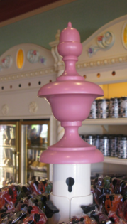 Custom hand wood turned Finial for local theme park