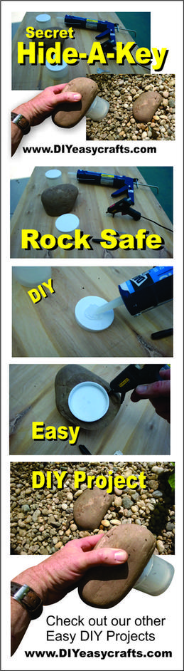 DIY Secret Hide a key rock safe. How to make. www.DIYeasycrafts.com