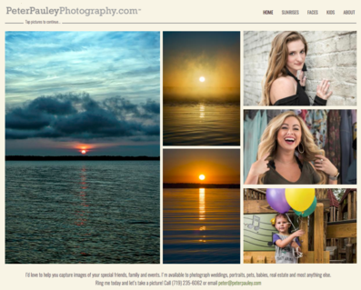 Image of peterpauleyphotography.com web page