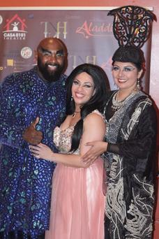 with Finley Polynice (Genie) and Rosa Lisbeth Navarrete (Rajah)