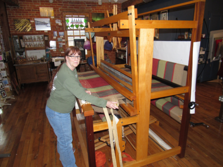 "60"" Harrisville Designs 4 shaft Rug Loom (Peter Collingwood Design) for sale in Michigan."