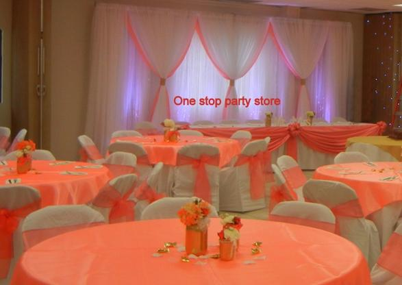 coral / salmon wedding decor
