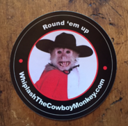 Whiplash the Cowboy Monkey Sticker