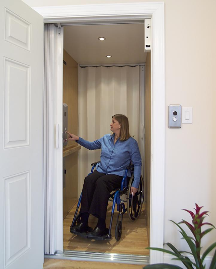 A residential elevator can make every floor of the home accessible.