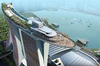 Photo of Marina Bay Hotel Singapore with views of Marina Bay.
