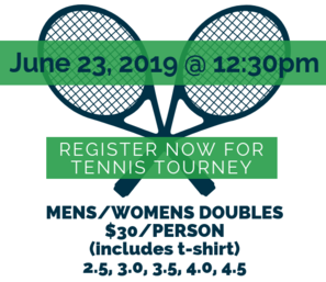 Click Here to register for the Tennis Tournament