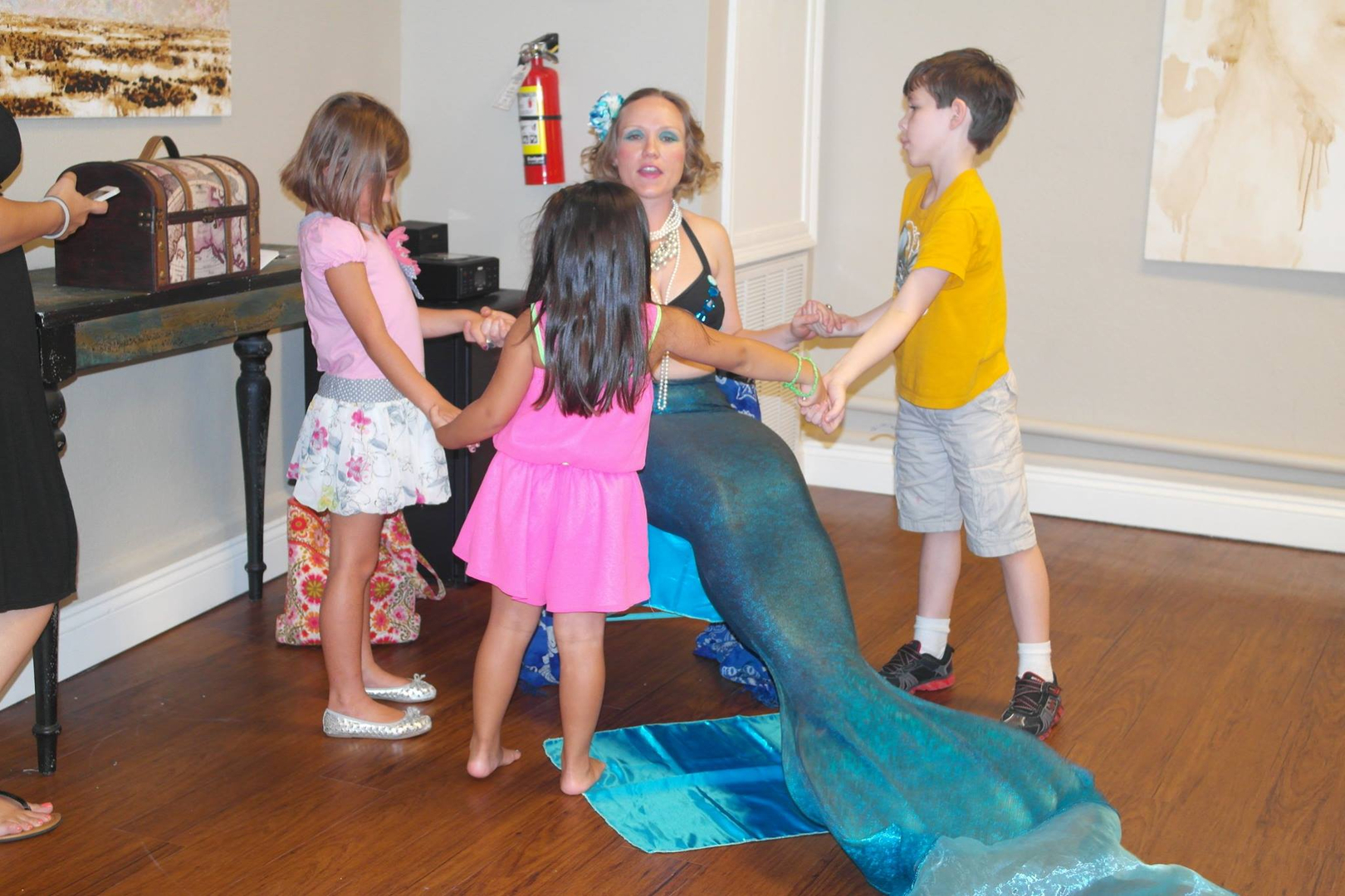 Siren Swerve The Kids Wish We All Were Fish At The Closing Reception For Artist Brooks Frederick At Anelas Yoga Lounge On July 27 2014