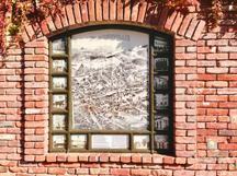 Historic Plaque Community Pride Volunteers Placerville California Old City Hall Lot Public Restroom Old Map Birds Eye View 1888