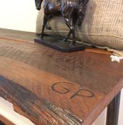 reclaimed wood bench | GPCurtis
