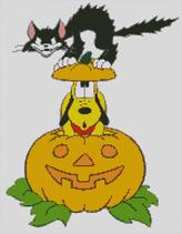 Cross Stitch Chart of Plutos Halloween Cat