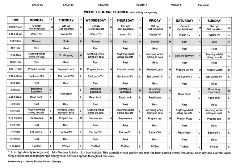 Weekly Routine Planner