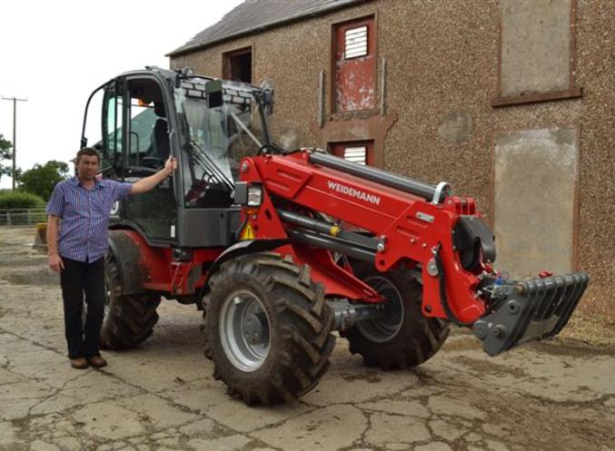 Robert Curruie, Antrim with his Weidemann 3070 CX80T