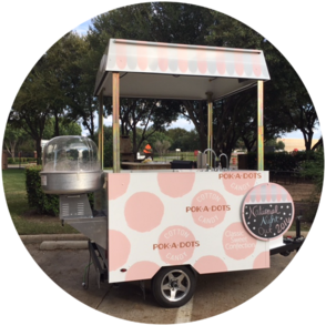 One of our cotton candy catering stands in Texas