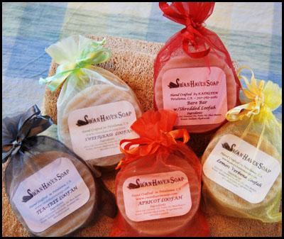 Swan Haven Soap near Petaluma CA makes all natural hand-crafted soaps and bath products