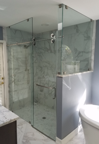 Cascade Barn Shower Door