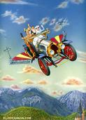 Albert R. Broccoli's CHITTY CHITTY BANG BANG acrylic on board by CLIFF CARSON