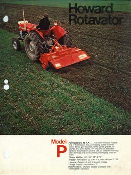 Howard Rotavator Model P Brochure