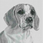 Cross Stitch Chart of a Beagle original artwork by Nick Clark