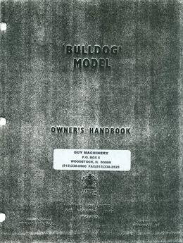 Howard Rotavator Bulldog Owner's Manual