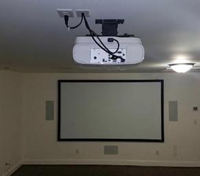 home theater installation surround sound audio visual. Black Bedroom Furniture Sets. Home Design Ideas