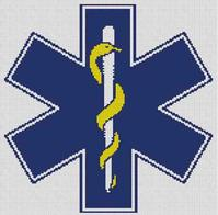 Cross Stitch Chart of the EMT Star of Life