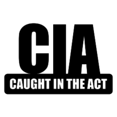 CIA – Caught In The Act Sticker