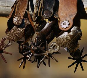Tools of the trade, spurs, Rowels and Spur straps