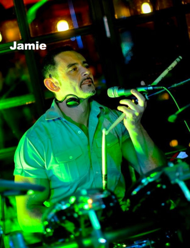 Jamie Karaolis, drums and band leader Caramel Sessions
