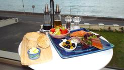 Good food including smoked glenarm organic salmon platters at Water's Edge Glnarm Bed and Breakfast (B&B)