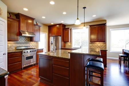 wood flooring custom cabinets custom lighting kitchen remodel Greenwood Village Colorado