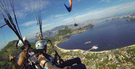 paragliding tandem flight in niter