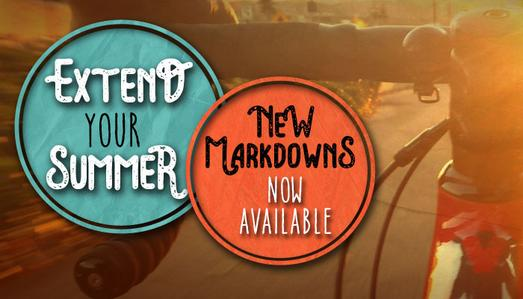 Extend your summer with markdowns at Pedal Power!