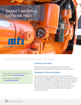 Gasket Materials for Extreme Heat