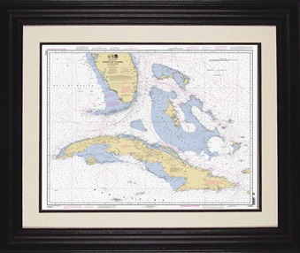 Framed nautical charts maps current charts gumiabroncs Image collections