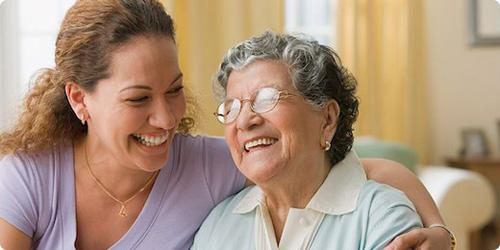One of our elderly home care specialists with a patient in Milwaukee County, WI