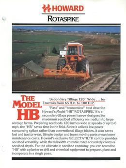 Howard Rotavator Model HB Brochure