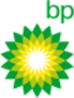 Green, yellow, and white bp sunburst logo.