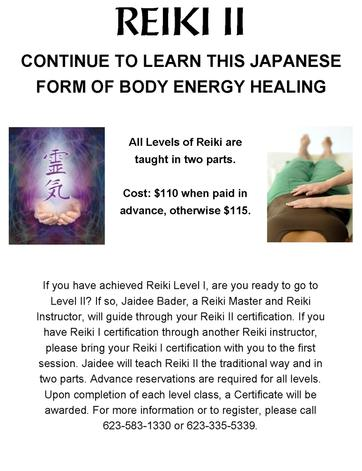 Reiki Courses in Arizona
