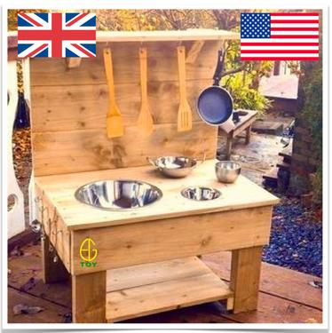 mini mud kitchen evergreen toys