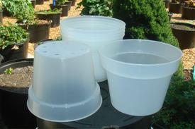 clear plastic pots with UV inhibitor
