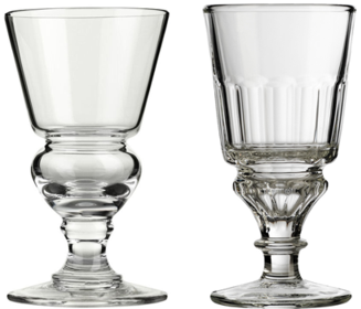 Blown and Molded Pontarlier Absinthe Glasses