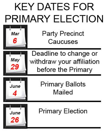 Key Dates for Primary Election