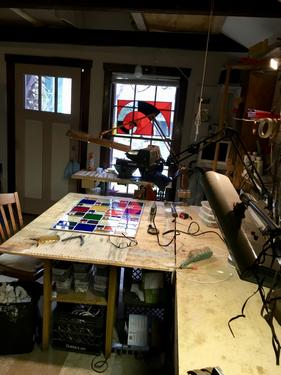 Randall Soileau's Stained Glass Studio in Austin, Texas