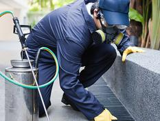A man conducting pest control services in Granite Bay, CA