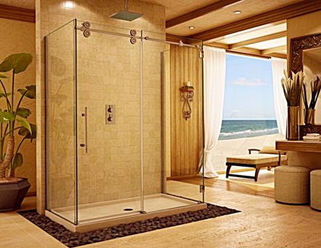 inline adjustable shower doors